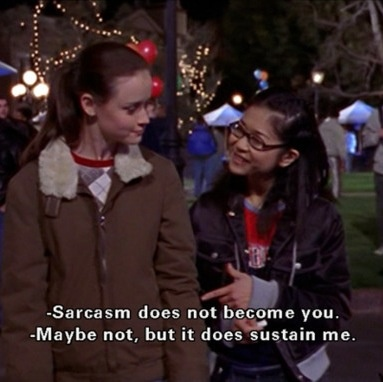 Gilmore Girls yet again describing my life