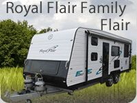 """Once again, Royal Flair have reset the standards and raised the bar in affordable family touring. The Royal Flair Family Flair Range offers you the """"best bang for your buck"""" in high quality caravanning throughout Australia."""