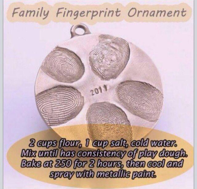 Family fingerprint ornament