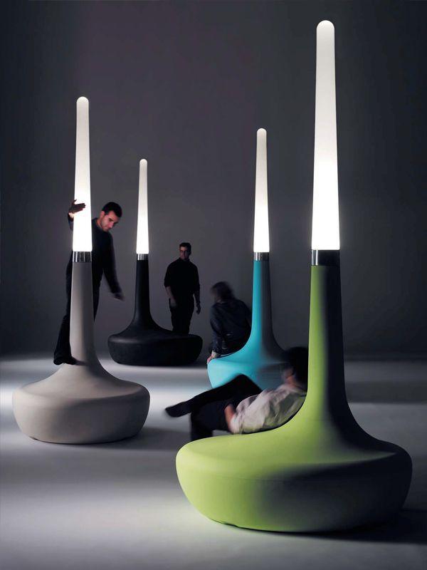 BANCO DE POLIETILENO COM LUZES INTEGRADAS BDLOVE LAMP COLEÇÃO BDLOVE BY BD BARCELONA DESIGN | DESIGN ROSS LOVEGROVE