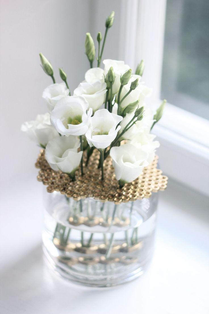 Brass nut flower vase lid diy project home decor diy and craft pinterest home vase Diy home decor flower vase