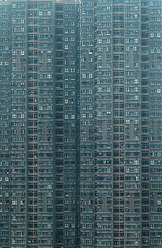 With the growth in the world's population we will all be living in these concrete monumental buildings soon
