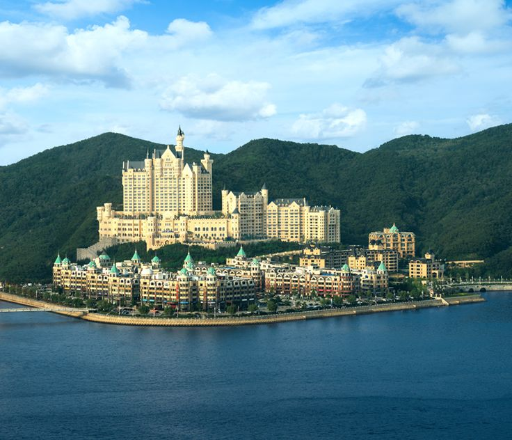 The Castle Hotel Dalian, which opened in 2014, overlooks China's Xinghai Bay.
