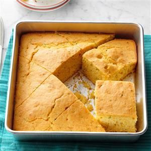 Appalachian Corn Bread Recipe -On this westernmost ridge of the Appalachians, we get abundant rain and sunshine, which allows our children to grow a super-sweet corn crop. With staggered plantings, there is enough to eat from mid-July through August, plus plenty to freeze for the long winter. This corn bread is just one way we use some of the bounty! —Anne Wiehler, Farmington, Pennsylvania