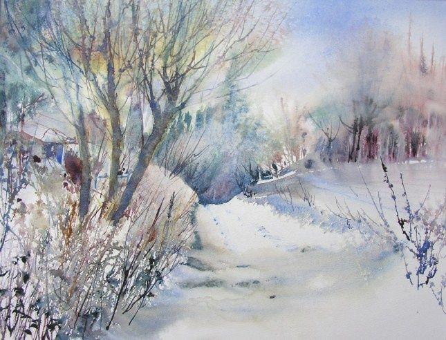 Chemin de la Longue Rue - Painting ©2009 par Reine-Marie PiNCHON -  Peinture, Huile