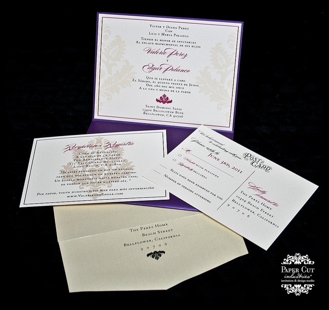 Valerie Edgar Spanish Wedding invites nozza