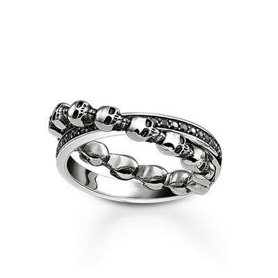"ring ""dödskalle"" ur kollektionen Rebel at heart i THOMAS SABO:s onlineshop"