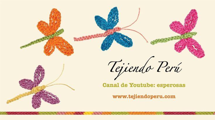 http://www.tejiendoperu.com/ Estas libélulas son muy divertidas y tiene muchas aplicaciones!!! Modelo 2 Tejiendoperu... tutoriales de…