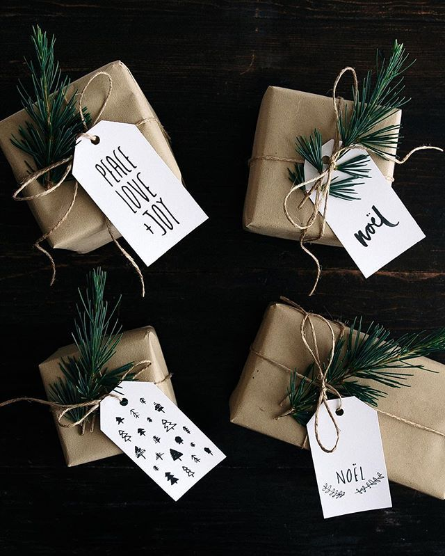 WEBSTA @ gatherandfeast - FREE PRINTABLE CHRISTMAS GIFT TAGS! these hand sketched tags are over on the G