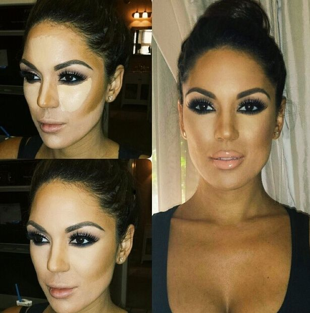 How to contour and highlight in beautiful easy way. #makeup
