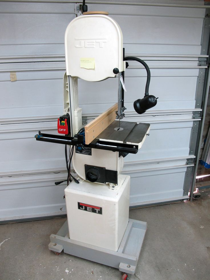 jet band saw blue. jet band saw _ modified with a mobile base, flexible light, 6\ blue h