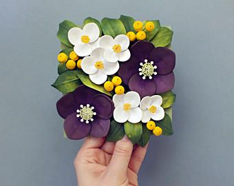 Hellebore Sweet Mock-Orange Flowers - English Dogwood Wall Art - Christmas Rose Art - Paper Quilling Flowers - Sweet Mock-Orange Wall Art