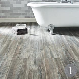 27 best floors images on pinterest flooring home ideas for Grey bathroom laminate flooring