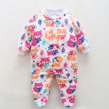 Marca de Roupas de Bebê Menino Romper Do Bebê Recém-nascido Menina Corpo Sleepwear Macacão Animais Fleece Pijama Bebê Infantil Bebes Inverno Global(China (Mainland))
