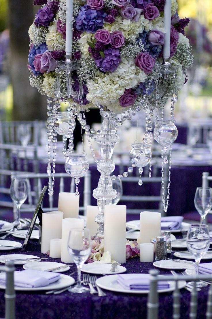 Gorgeous Candelabra Centerpiece With Hydrangea Roses
