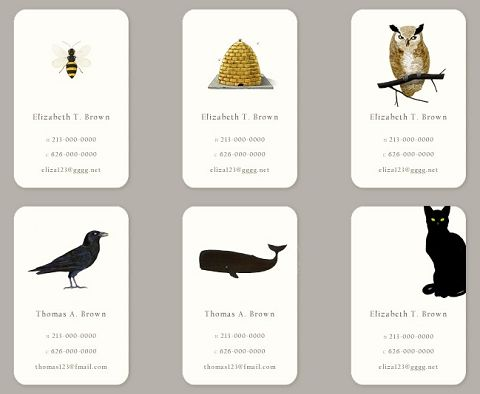 personalized calling cards from Felix Doolittle