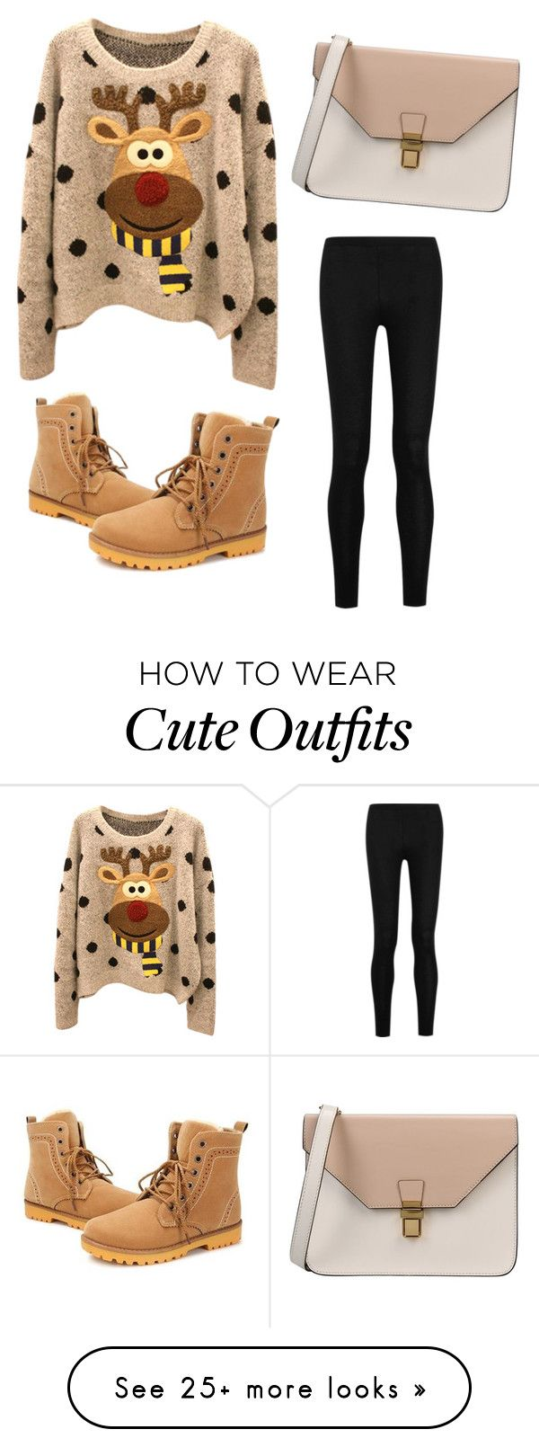 """Christmas Outing Outfit"" by madyson-w-w on Polyvore featuring Donna Karan and 8"