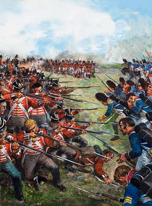 A battle in Belgium in 1815 in which the British and Prussians defeated the French under Napoleon Bonaparte. Napoleon abdicated as emperor a few days after this final defeat, and a few weeks later he was captured and sent into exile.