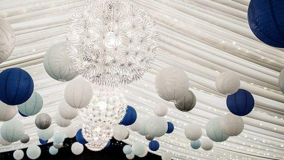Boho wedding decor wit papieren lantaarns wedding door evescrafts