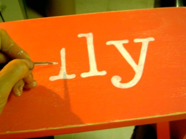 How to paint beautiful letters on wood... This is a trick I used in college for sorority gifts.