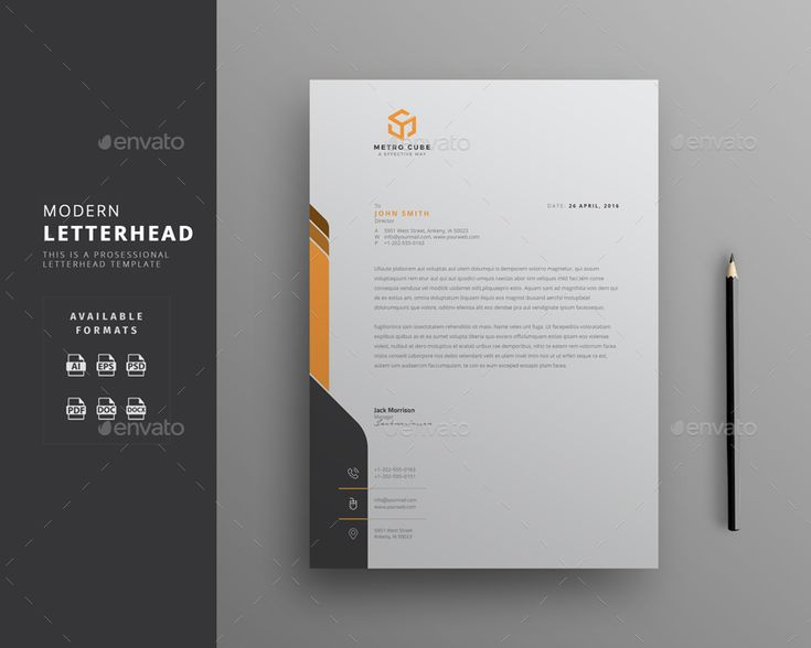 Best  Creative Professional Letterhead Template Word Images