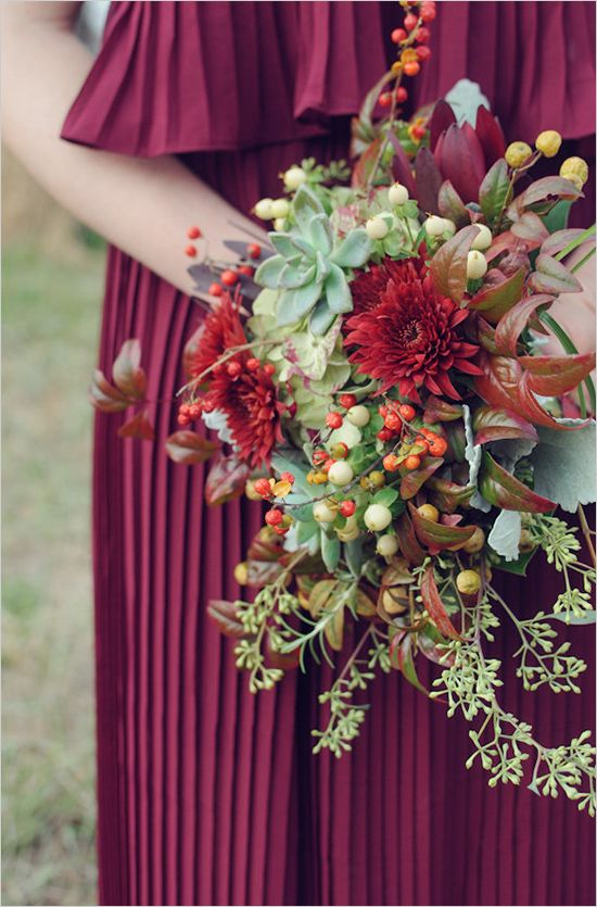 bridesmaid bouquet ideas - Just kind of obsessed with this wedding in general...