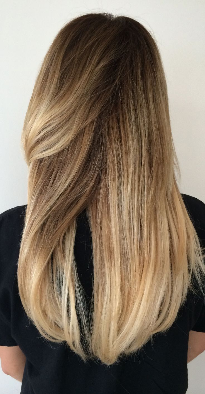 Long Blonde Hair Balayage Highlights Sombre Summer
