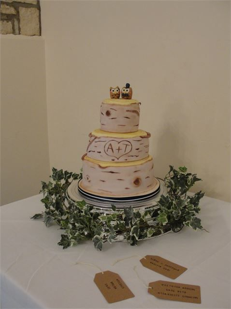Silver Birch Wedding Cake from Cakes by Potts - Cakes by Potts