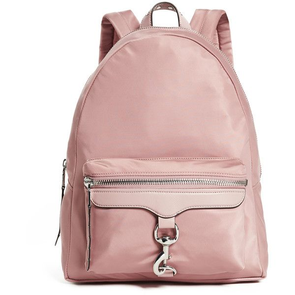 Rebecca Minkoff Always On MAB Backpack (£140) ❤ liked on Polyvore featuring bags, backpacks, vintage pink, laptop bag, vintage rucksack, rebecca minkoff backpack, pink laptop backpack and vintage backpacks