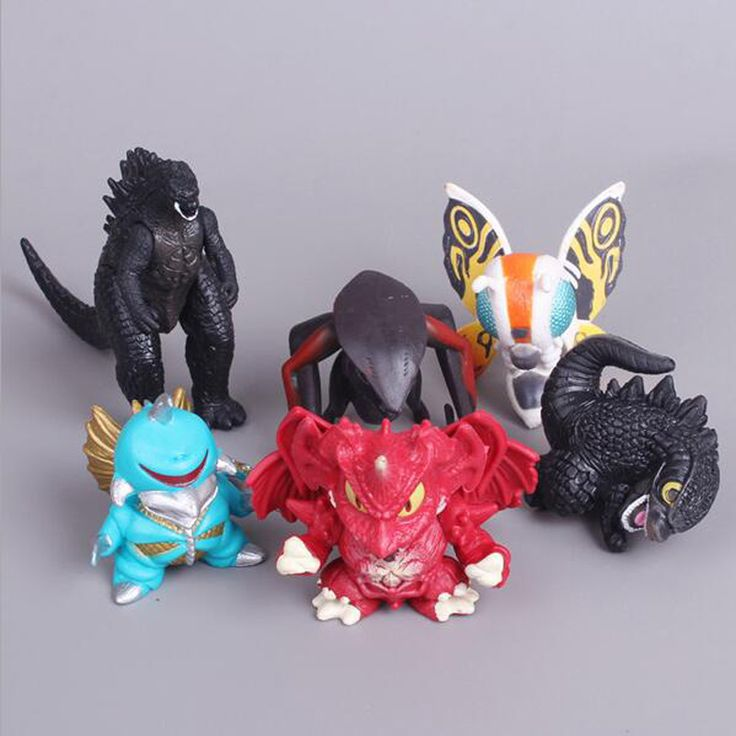 Sale Cute Godzilla Muto PVC Action Figures Collectible Movie Model Toys Kids Plastic Toys For Kids Gifts Doll Desk 6pcs/set