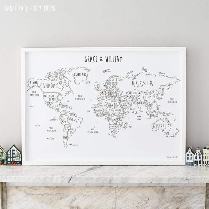 Louisa Elizabeth Personalised World Pinboard Map With Pins  #affiliate #travel #worldmap #interior #backpacker #globetrotter #trends #home #idea #2019 #gift  #traveller #poster #instagram #map #interieur #pin #pinboard – Travelpadt