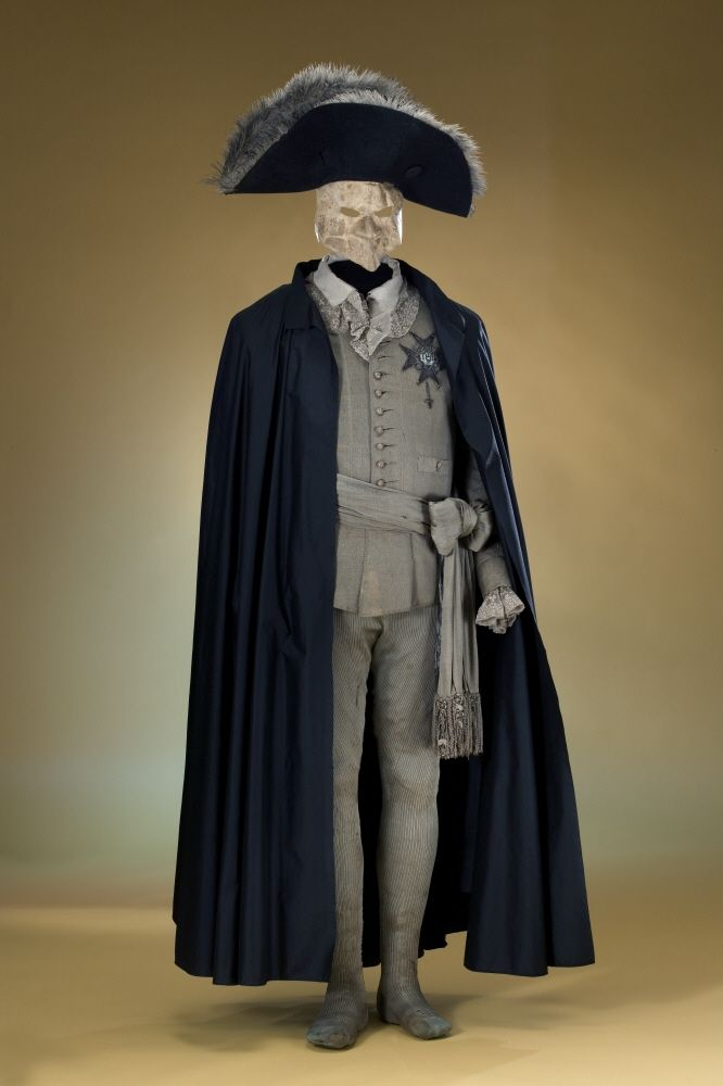 The costume Gustav III of Sweden wore during the masquerade ball where he was shot and fatally wounded, 16th march 1792   visit also http://museumoftheartifacts.blogspot.com/