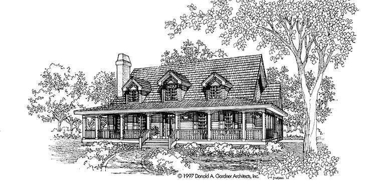 Low country house plan with 1899 square feet and 3 for Low country home plans