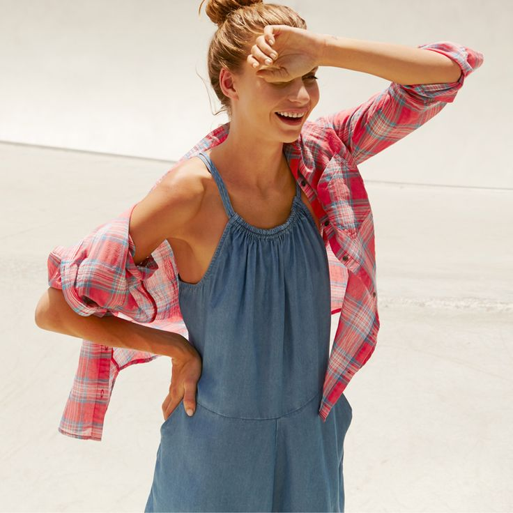 Giselle Cotton Shirt and Savannah Playsuit #playsuit #cottonon #womensfashion #checkedshirt