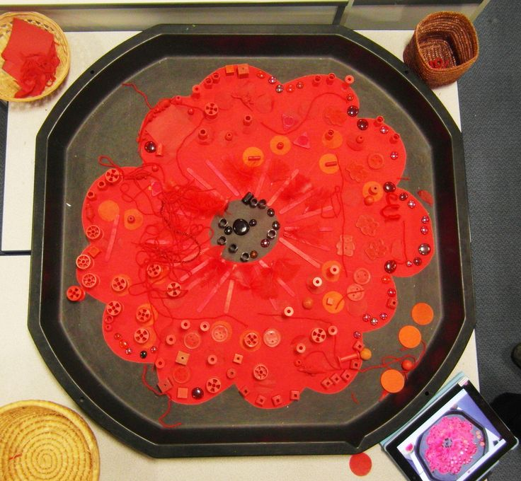 Poppy- whole class transient art for remembrance day