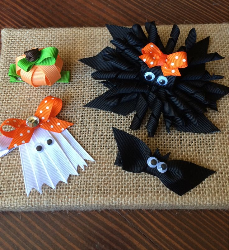 Halloween Ribbon Sculpture Hair Clips by EVRbaby on Etsy https://www.etsy.com/listing/203713658/halloween-ribbon-sculpture-hair-clips