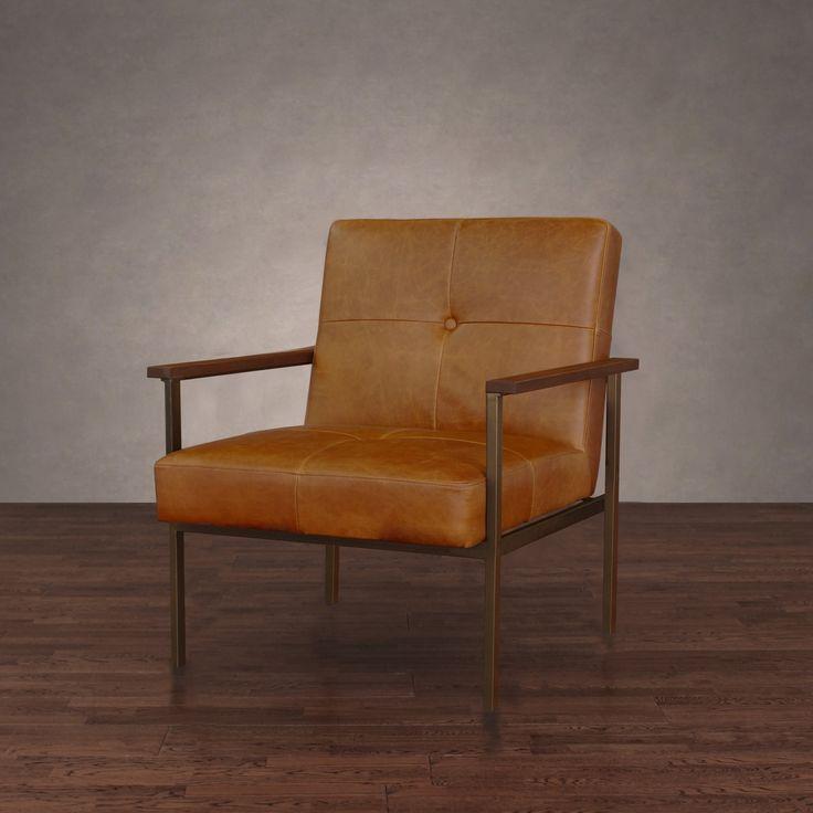 Retro Steel Leather Armchair