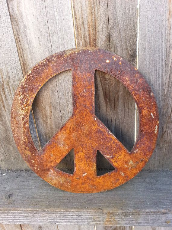 Rust in peace yard art decoration by MyRustedRoots on Etsy, $10.00