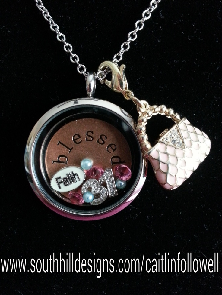 Locket idea for thirty-One reps....Create your own South Hill Designs locket at www.southhilldesigns.com/caitlinfollowell