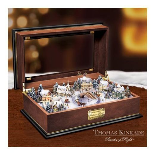 Christmas Music Box - Thomas Kinkade Town