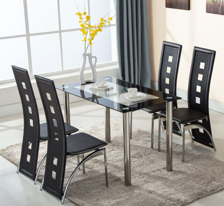 Now available on our store: 5 Piece Glass Din... Check it out here! http://www.modernboardroomsupplies.com/products/5-piece-glass-dining-table-set-4-leather-chairs-kitchen-room-breakfast-furniture?utm_campaign=social_autopilot&utm_source=pin&utm_medium=pin