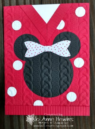 Minnie sweater card