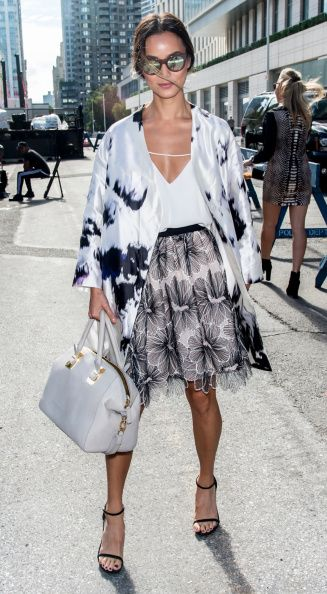 Actress Jamie Chung is seen at the Lela Rose fashion show during Mercedes-Benz Fashion Week Spring 2015 at The Pavilion at Lincoln Center on September 8, 2014 in New York City.  (Photo by Gilbert Carrasquillo/GC Images)