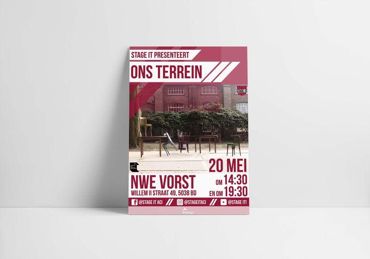 POSTER DESIGN - AMBER MUNSTERMAN  / ONS TERREIN / FONTYS ACI