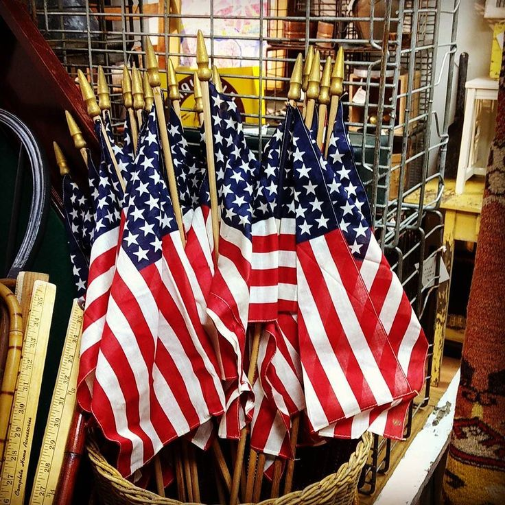 """48 Star Flags Old Store Stock 16"""" x 11"""" $9.50 each #mercantile_m #andersonville"""