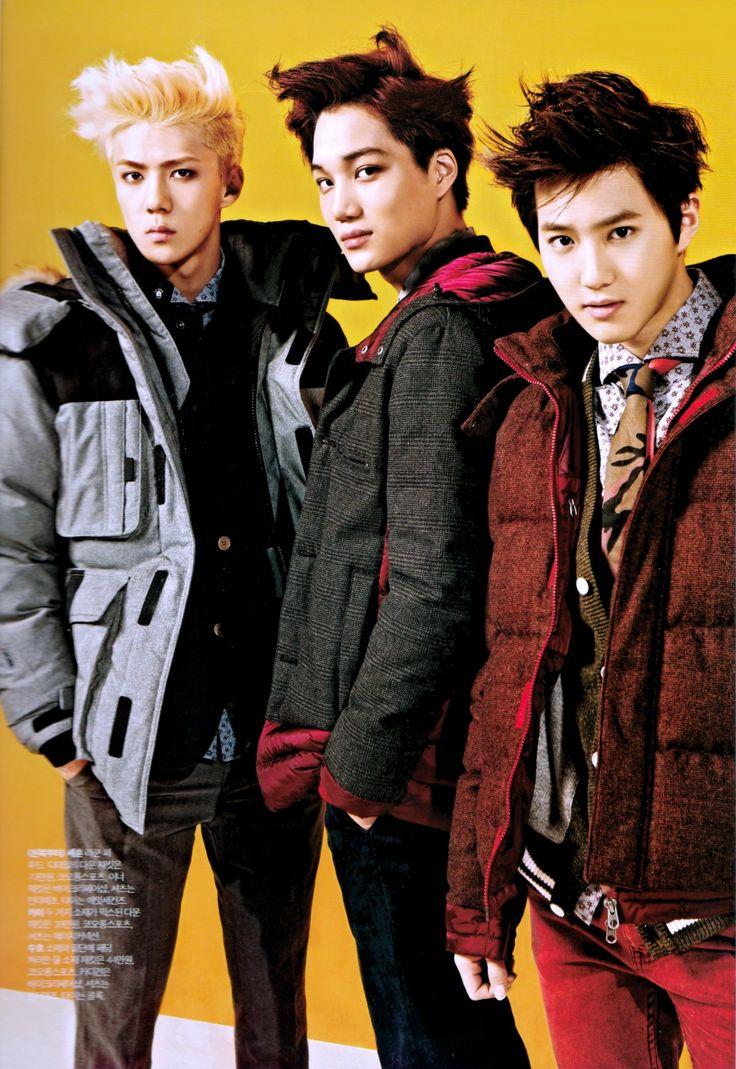 Kai, Sehun and Suho - InStyle Magazine November Issue
