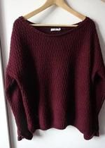 New Look bordowy sweter oversize