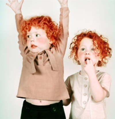 Ginger twins shared by www.twinsgiftcompany.co.uk