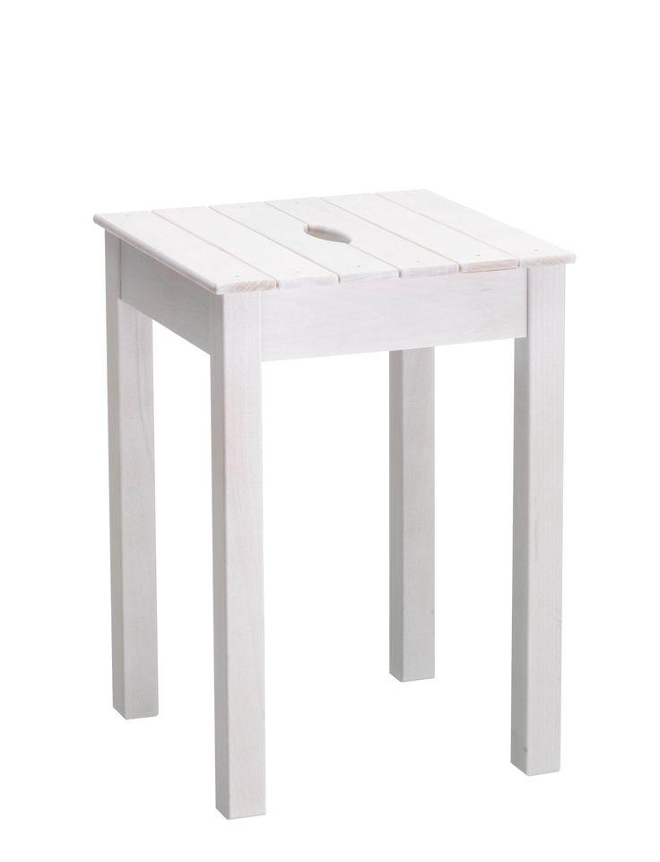 holz taburett weiss b 32 h 46 t 32 cm hocker micasa. Black Bedroom Furniture Sets. Home Design Ideas