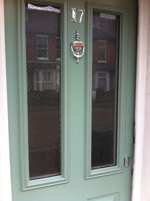 Solidor front door Chartwell Green Pilkington Oriel glass & 9 best Duck Egg Blue Front Doors images on Pinterest   Doors online ...